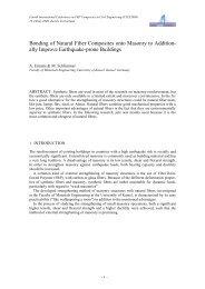 Bonding of Natural Fiber Composites onto Masonry to Addition- ally ...