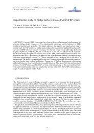 Experimental study on bridge decks reinforced with GFRP rebars