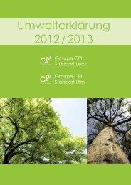Umwelterklärung 2012 / 2013 - EMAS