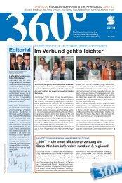editorial im verbund geht's leichter - Sana Kliniken AG