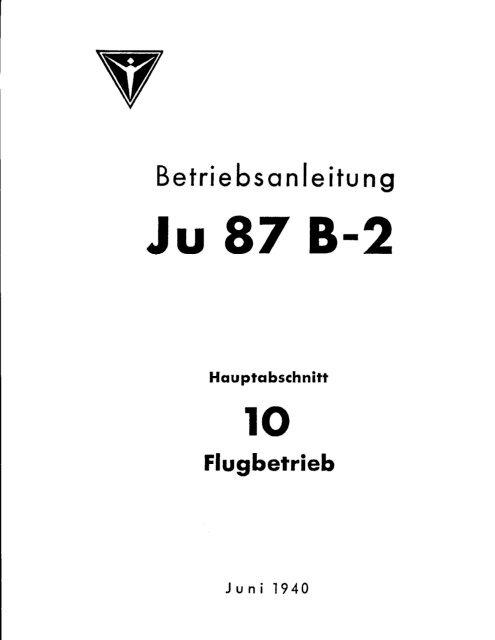 Ju-87 B-2 Flugbetrieb - AVIA