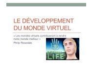 Le développement du monde virtuel damien alemany tarik terras
