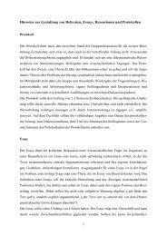 Hinweise zur Gestaltung von Referaten, Essays, Rezensionen und ...
