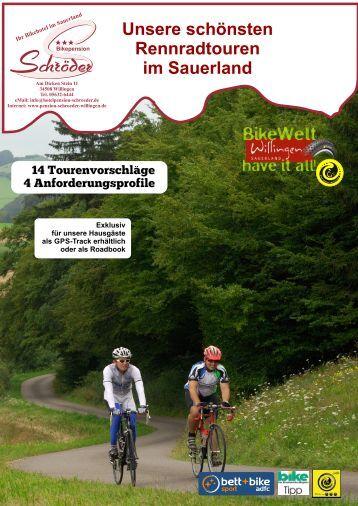 Pension Schröder Die schönsten Rennradtouren im Sauerland