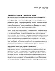 Transcending the EUR 1 billion sales barrier