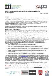 INVITATION FOR CUPA IMPLEMENTATION LAB ... - Iiinstitute.nl