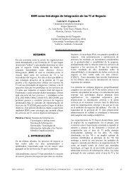 BSM como Estrategia de Integración de las TI al Negocio