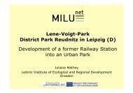 Reference Case Reudnitz Presentation on District Park ... - Iiinstitute.nl