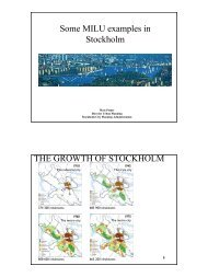 Stockholm MILU examples, review Second ... - Iiinstitute.nl