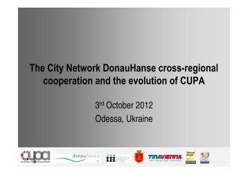 CUPA programme - Donau Hanse - Iiinstitute.nl