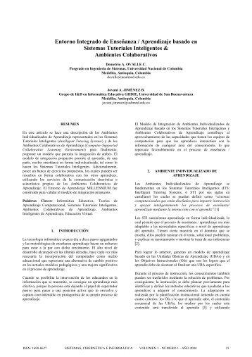 Entorno Integrado de Enseñanza / Aprendizaje basado en Sistemas ...