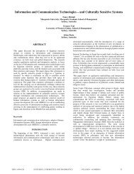 Information and Communication Technologies – and Culturally ...