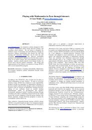 Playing with Mathematics in Peru through Internet: A Case Study of ...