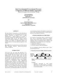 Inter-Governmental E-Government Processes:Comparison of ...