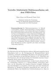 Verteilte Multiobjekt-Multisensorfusion mit dem PHD-Filter - IIIT