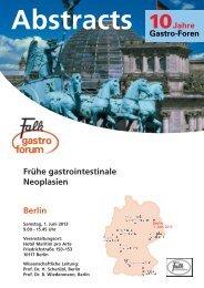 Frühe gastrointestinale Neoplasien Berlin - Dr. Falk Pharma GmbH