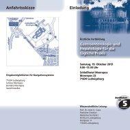 Einladung Anfahrtsskizze - Dr. Falk Pharma GmbH