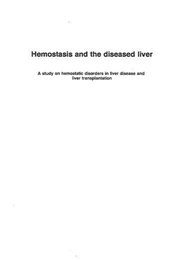Hemostasis and the diseased ~iver - RePub - Erasmus Universiteit ...