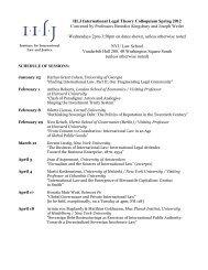 Sovereign Debt Restructurings as Exercises of International ... - IILJ