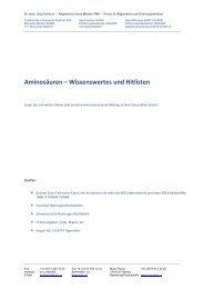 Aminosäuren – Wissenswertes und Hitlisten - Ever.ch