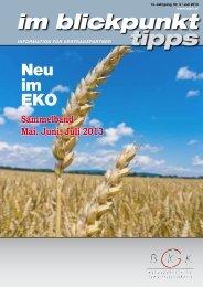 Im Blickpunkt Tipps Mai, Juni, Juli 2013 - BGKK