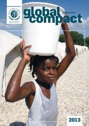 Global Compact Deutschland 2013 - Jahrbuch
