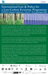 International Law & Policy for a Low-Carbon Economy ... - IILJ