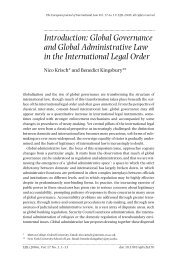 Global Governance and Global Administrative Law - European ...