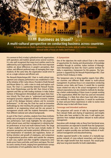 Brochure - Indian Institute of Management, Ahmedabad