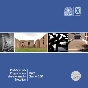Post-Graduate Programme in Management for Executives 2011