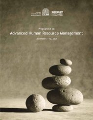 Advanced Human Resource Management - Indian Institute of ...