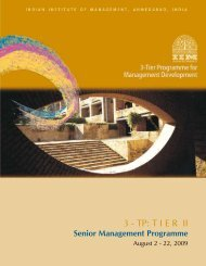 3 - TP: T I E R  II - Indian Institute of Management, Ahmedabad