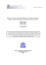 Reform of the Fiscal and Subsidy Regime for the ... - ResearchGate