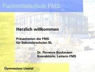 Präsentation FMS für Sekundarschulen BL - Gymnasium Liestal