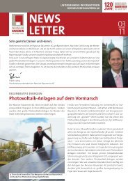 NEWS lETTER - Neusser Bauverein AG