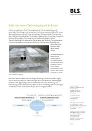 Faktenblatt. Technologiepark. - BLS
