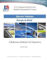 Electrical Vehicles: Europe in Brief - Export.gov
