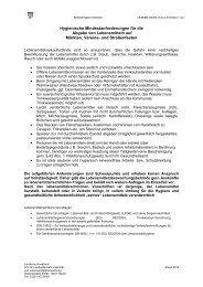 Hygienische Mindestanforderungen für die Abgabe von ... - BraLa