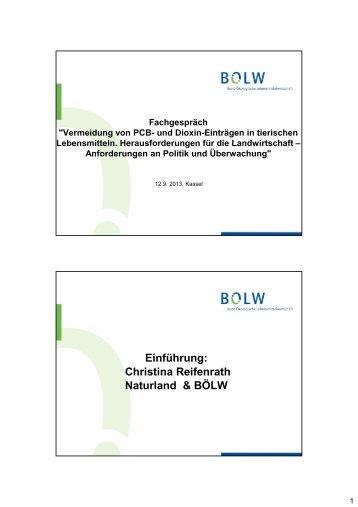 Vortrag - Bund Ökologische Lebensmittelwirtschaft