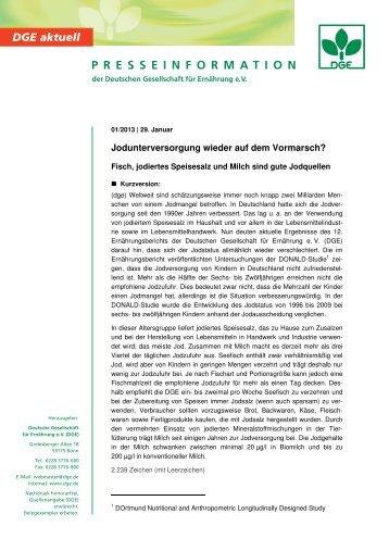 Pressetext als PDF-Dokument - DGE