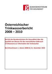 Österreichischer Trinkwasserbericht 2008 – 2010