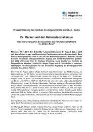 PM 13-10-17 Oetker - Institut für Zeitgeschichte