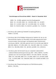 Verordnungen auf Grund des LMSVG – Stand: 6. Dezember 2013 ...