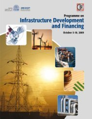 Programme on Infrastructure Development and Financing