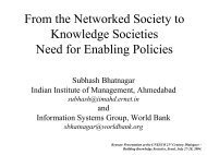 From the Networked Society to Knowledge Societies Need for ...