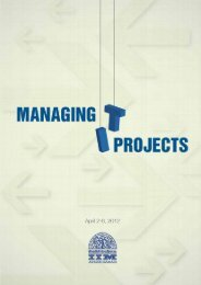 MANAGING PROJECTS - Indian Institute of Management, Ahmedabad