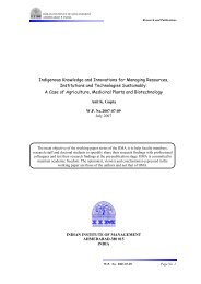Indigenous knowledge and innovations for managing resources ...