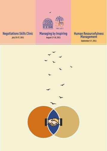 Negotiations Skills Clinic - Indian Institute of Management ...