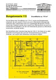 Bungalow 115V1 - Blockhaus Barth
