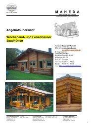 M A H E D A - Blockhaus Barth